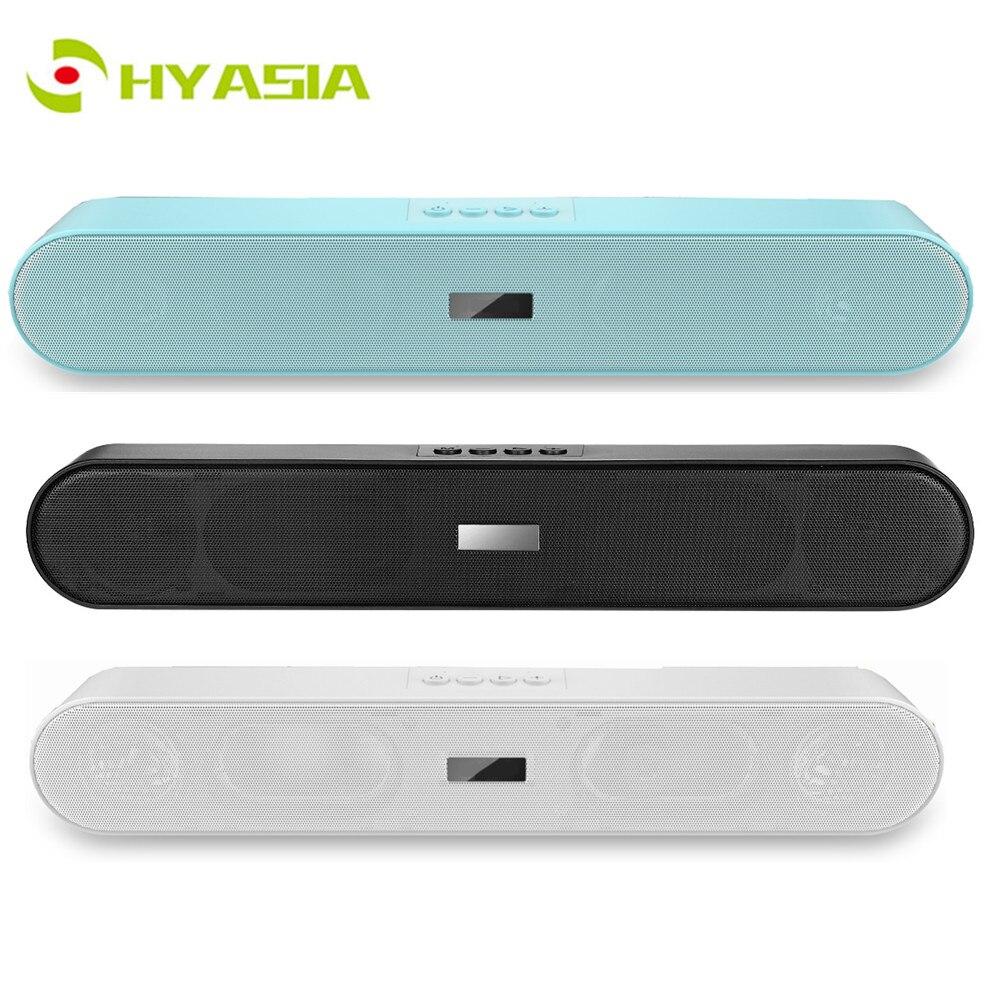HYASIA 2019 nouveau haut parleur sans fil Bluetooth 5.0 barre de son Portable caisson de basses Bluetooth 5.0 barre de son Home cinéma PC haut parleur TV    1