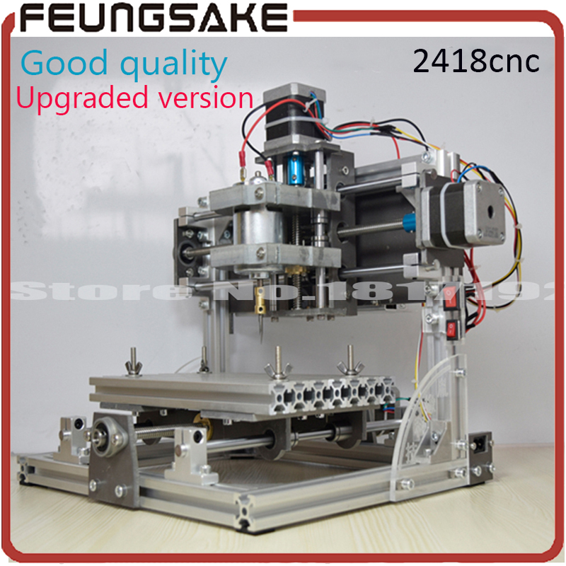 2418 CNC engraving machine,diy wood router,working area 24*18cm,PCB Milling Machine CNC Wood Carving Mini Engraving PVC ship DHL cnc 2418 with er11 cnc engraving machine pcb milling machine wood carving machine mini cnc router cnc2418 best advanced toys