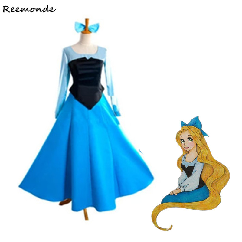 Anime The Little Mermaid Ariel Cosplay Costumes Princess Dress For Adult Women Girls Fancy Party Dance Performance Clothing