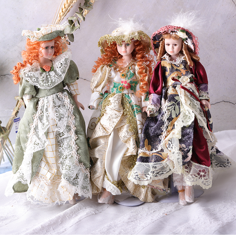 Hot Sell 30CM Porcelain doll European Style Victoria Style Russia Ceramic Classical Doll Noble High Quality Girl Gift Home decor