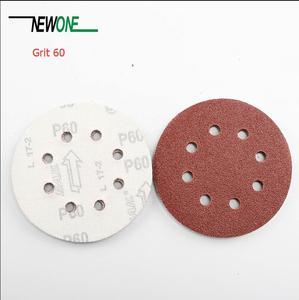 """Image 4 - NEWONE 100pcs/set 125mm 5 """"/5 zoll Schleifen Discs 8 Löcher Schleifpapier Pads Set 40#60#80# 100 #120 #150 #180 #240 #320 #400 und mehr größen"""