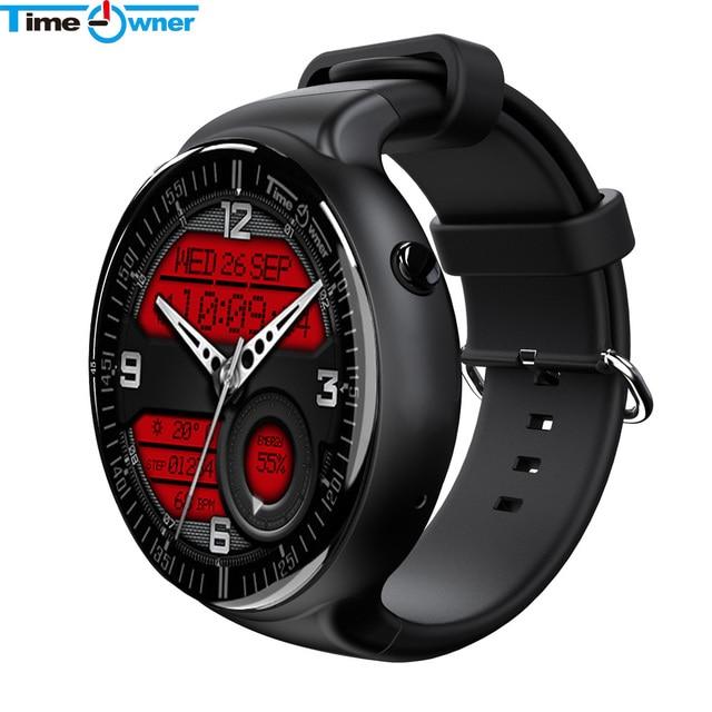 Время владельца TW2 Android 5.1 Смарт-часы 1 ГБ/16 ГБ телефон часы 1.39 дюймов HD Экран 3 г Wi-Fi сердечного ритма шагомер GPS Умные часы