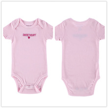 Autumn 1 Piece Cotton Style Baby Girl Boy Clothes Short Sleeve Sweatheart New Born Body Baby Ropa Letter Pink Baby Bodysuit r038