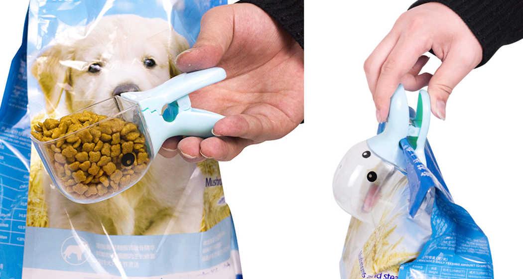 1Pc 多目的かわいい漫画ペットフードスクーププラスチックカモノハシ猫犬食品スプーン食フィーダー用品ブルーピンク