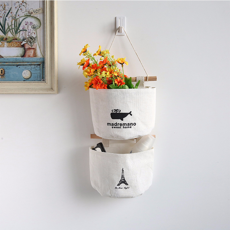 Cartoon Hanging Storage Bag  Wardrobe Hang Bag Wall Pouch Cosmetic Toys Organize Pockets Home Storage Bag Cloth Organizer
