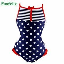 2016 Girls Swimwear one-piece swimsuit for Kids Cute Dot Lovely Girl Bathing Suit 3T-8T Children Clothing цена