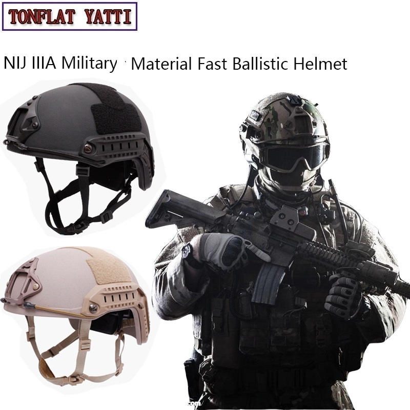 NIJ IIIA Military Casque Fast Ballistic Helmet Aramid Bulletproof Hel Military Tactics SWAT High Cut Ballistic Tactical Helmet