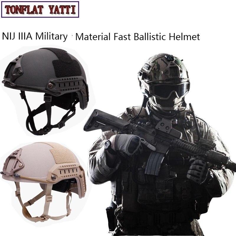 NIJ IIIA capacete Militar Rápido Capacete Balístico Aramida hel Táticas Militares GOLPE Alta Corte Balísticos Táticos Capacete à prova de balas