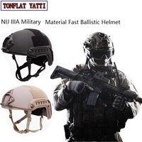Nij Iiia 군사 Casque 빠른 탄도 헬멧 Aramid 방탄 Hel 군사 전술 Swat 높은 컷 탄도 전술 헬멧
