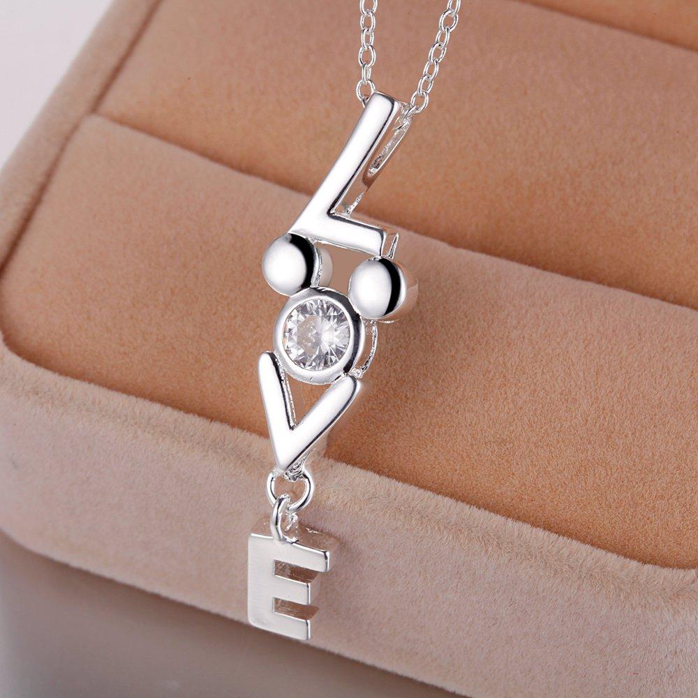 letter L .E. V bling sterling-silver-jewelry Necklace New Sale silver necklaces & pendants /SLBNPDNL YEPAFRWQ