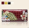 Genuine Cow Leather Jewelled Wallet   Blingbling Small Clutch Bag  Small Bag for Women