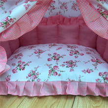 Classic Floral Yorkie Bed / House