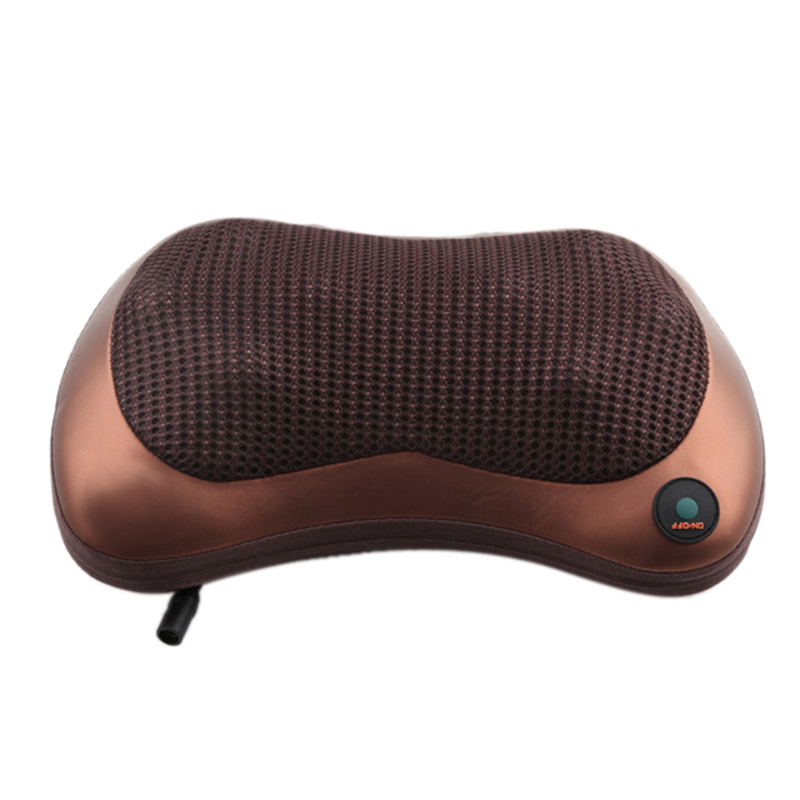 Roller Massage Pillow For Neck Chair Infrared Heating Kneading Neck Shoulder Car Shiatsu Massage And Relaxation 2 Eu Plug