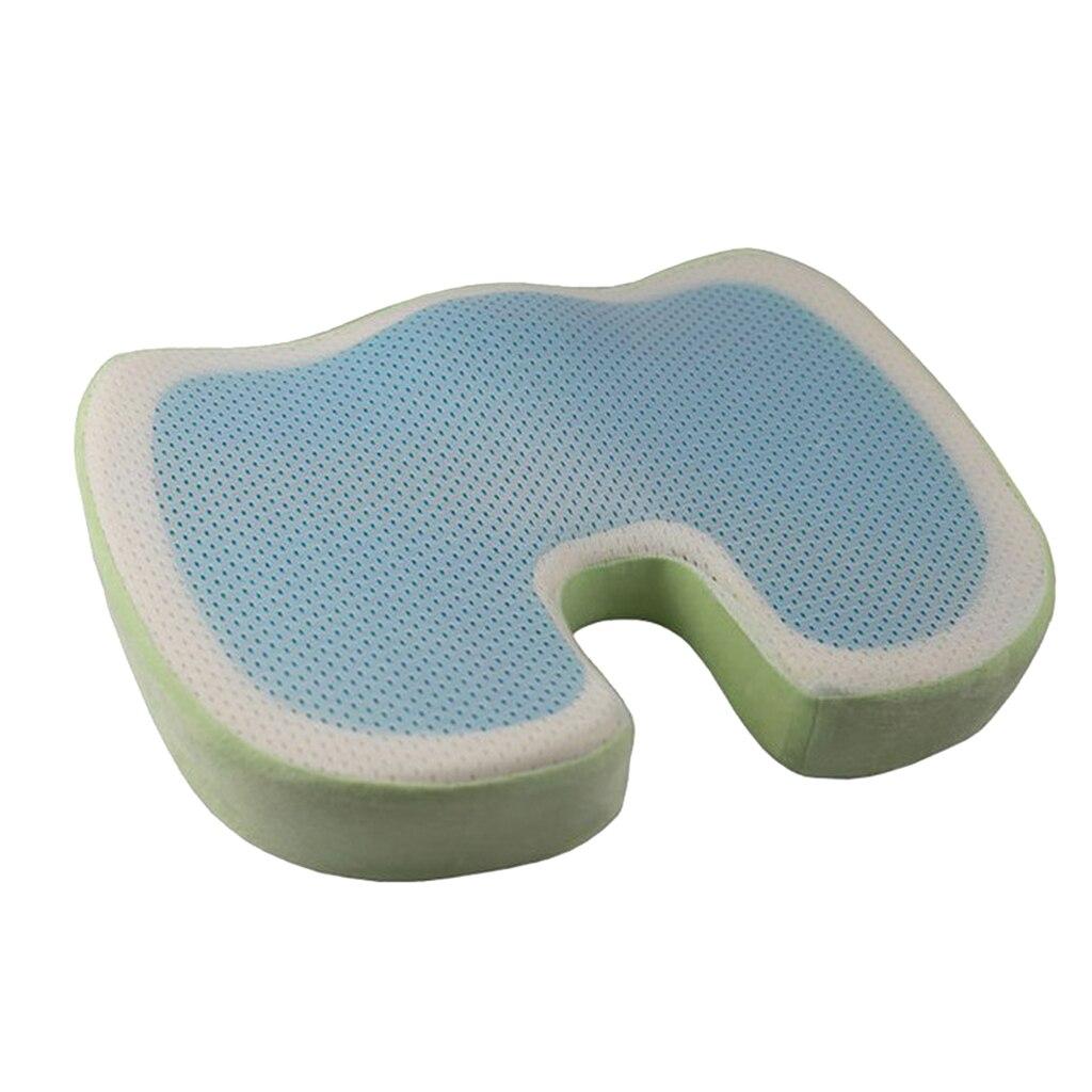 Coussin de siège en Gel pour fauteuil roulant coussin orthopédique coussin de chaise en mousse à mémoire de confort