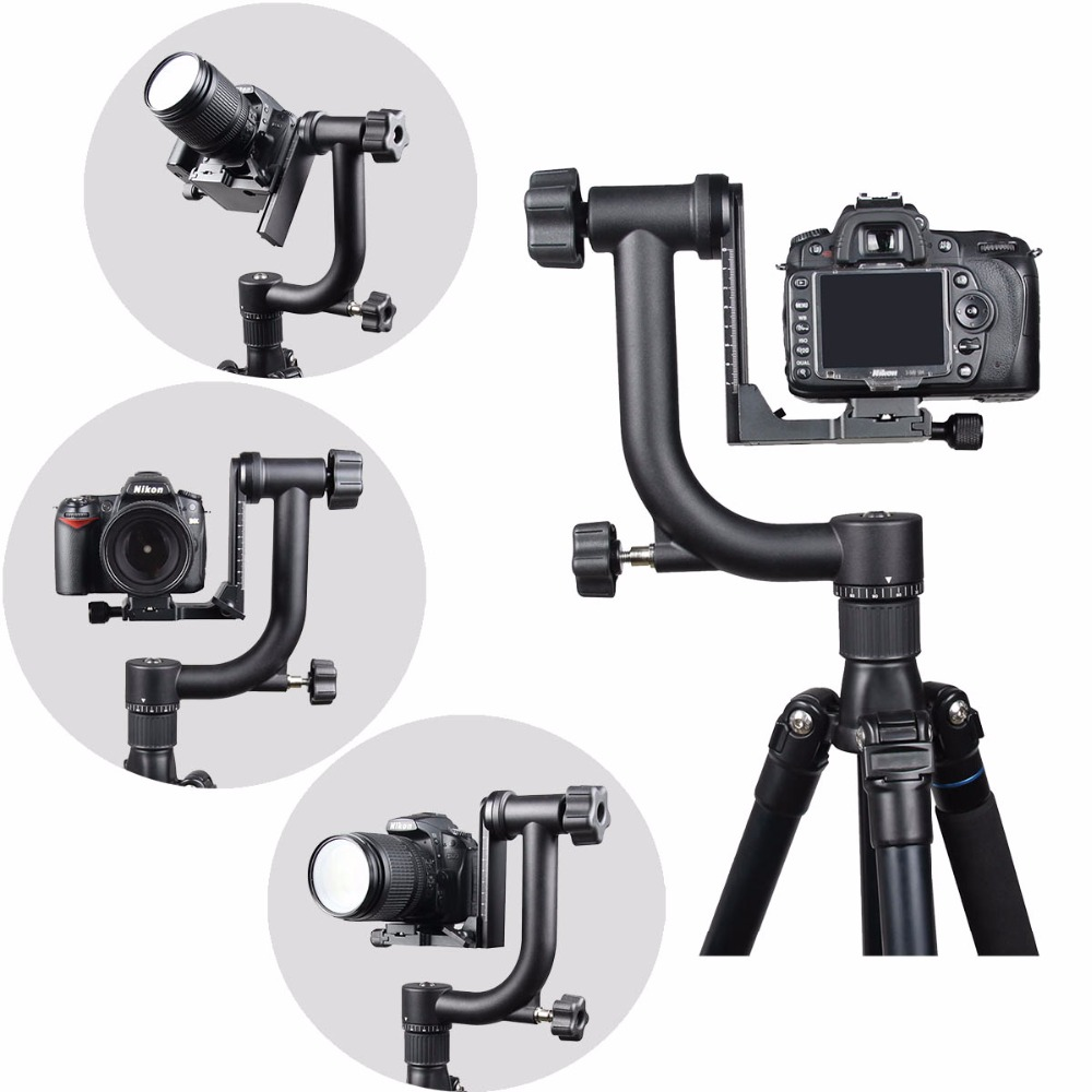 New For CUREFOTO 10KG Swivel up DSLR CR Heavy Professional 360 Tripod Camera Panoramic Head Gimbal to Lens Aluminum Telephoto 3
