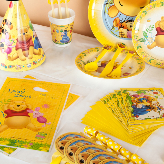 Winnie the Pooh Kids Birthday Party Decoration Set Cars-Plex Party Supplies Baby Birthday Party Pack event party supplies 2