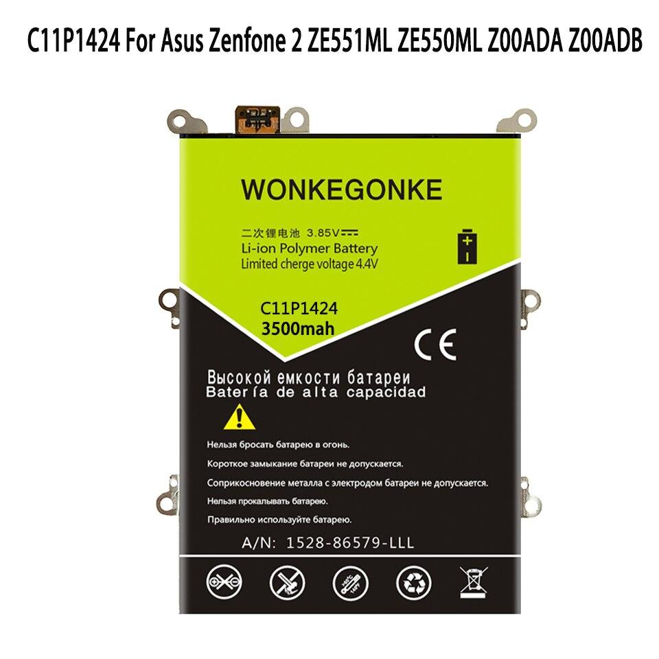 WONKEGONKE C11P1424 para Asus Zenfone 2 ZE551ML ZE550ML Z00ADA Z00ADB 5,5 pulgadas batería de polímero de litio baterías