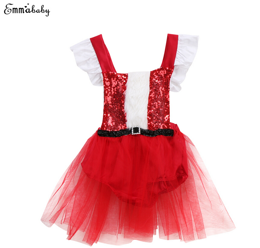 dc4c4c4c49a4 Detail Feedback Questions about 2017 Newborn Baby Girl Dresses Sequins  Christmas Santa Claus Tutu Romper Dress Outfit Xmas Costume Clothing on ...