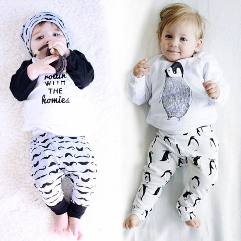 купить LZH Newborn Clothes 2017 Autumn Winter Baby Boys Clothes Sets T-Shirt+Pants 2pcs Baby Outfits Suit Baby Girl Set Infant Clothing онлайн