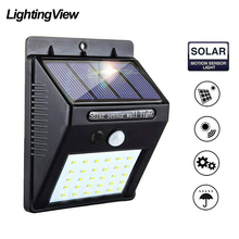 Power-Lamp Pir-Motion-Sensor Led Outdoor Solar Light Path Wall-Yard with Use-For 20/30