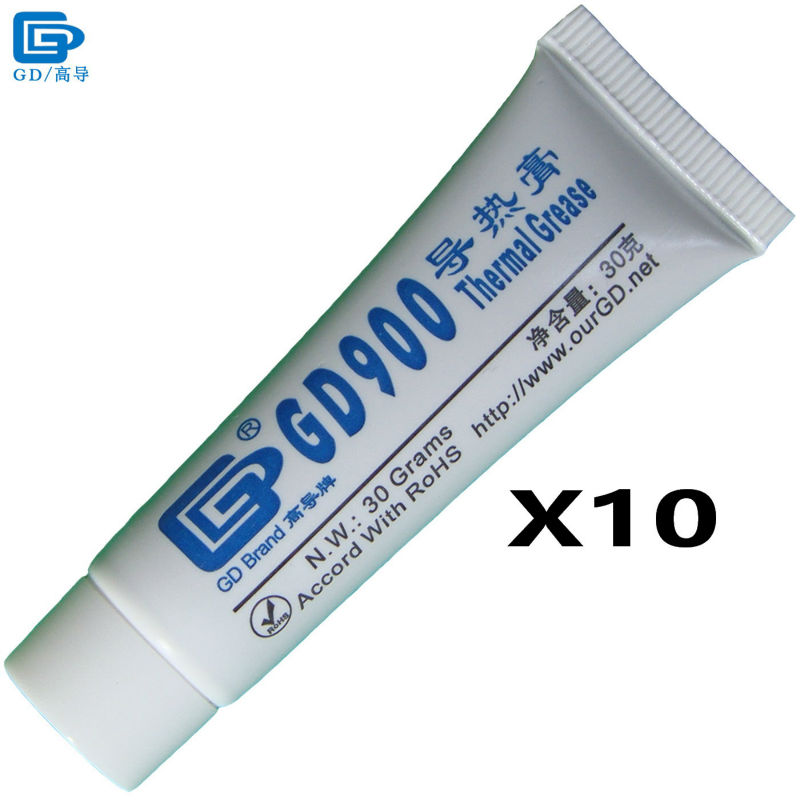 GD900 Thermal Conductive Grease Paste Silicone Plaster Heat Sink Compound 10 Pieces Net Weight 30 Grams High Performance ST30 gd900 thermal conductive grease paste silicone plaster heat sink compound 6 pieces net weight 7 grams high performance gray sy7