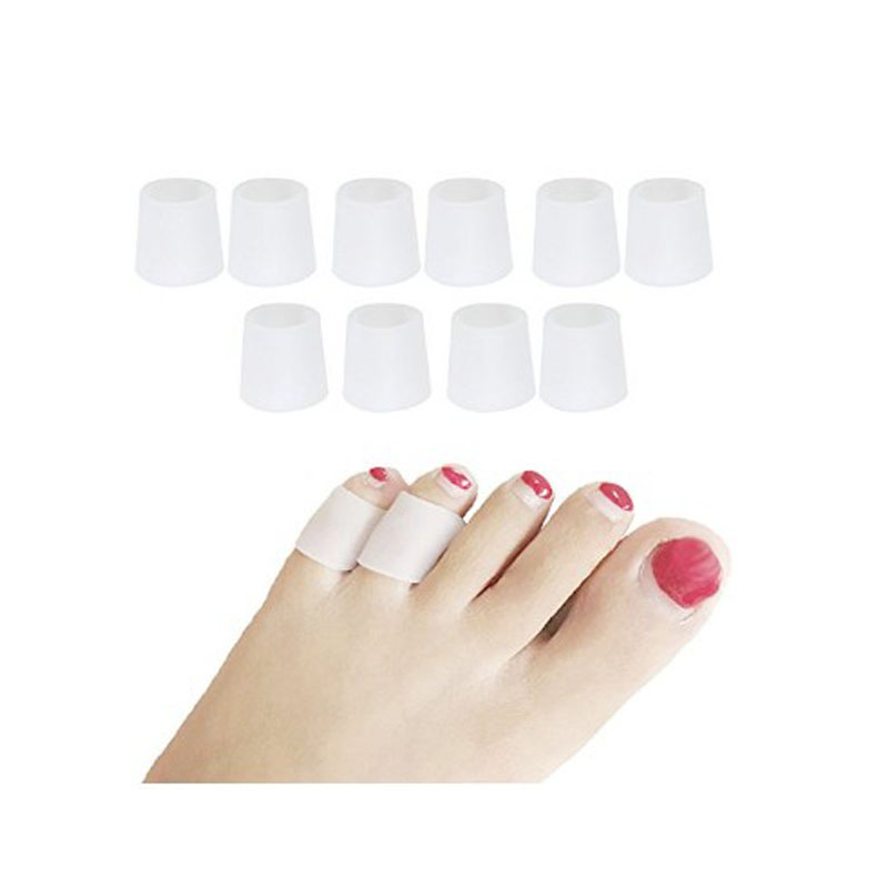 10pcs=5Pairs Little Toe Tube Corns Blisters Corrector Protector Bunion Toe Finger Protection Sleeve Foot Care Pedicure Tools