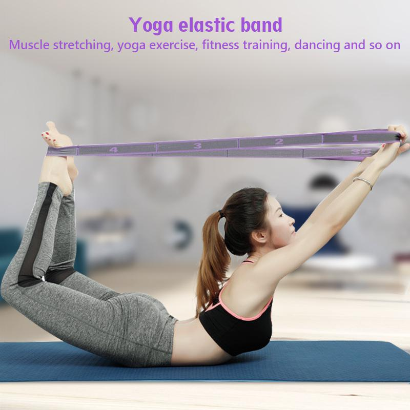 HobbyLane Yoga Fitness Elastic Band 9-Loop Training Strap Tension Resistance Exercise Stretching for Sports