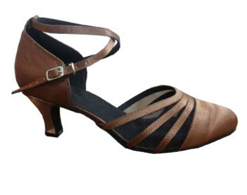 Wholesale Women Brown Satin Ballroom LATIN Dance font b Shoes b font font b SALSA b