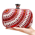 New Arrival Beaded Women Evening  Bags Arylic Bling Bling Wedding Bridal Handbags Silver/Red/Gold/Blue Black Clutches