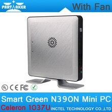 4 Г ОЗУ 16 Г SSD OEM Мини Настольных ПК с Вентилятором Intel Celeron 1037U ПРОЦЕССОРА Dual Core Linux Embedded Computer