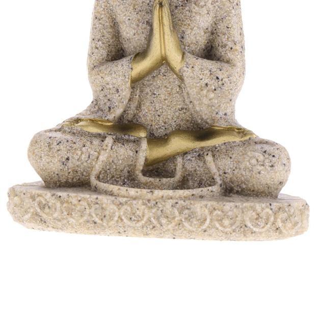 MagiDeal The Hue Sandstone Meditation Buddha Statue Sculpture Handmade Figurine Meditation Miniatures Ornament Statue Home D#3 6