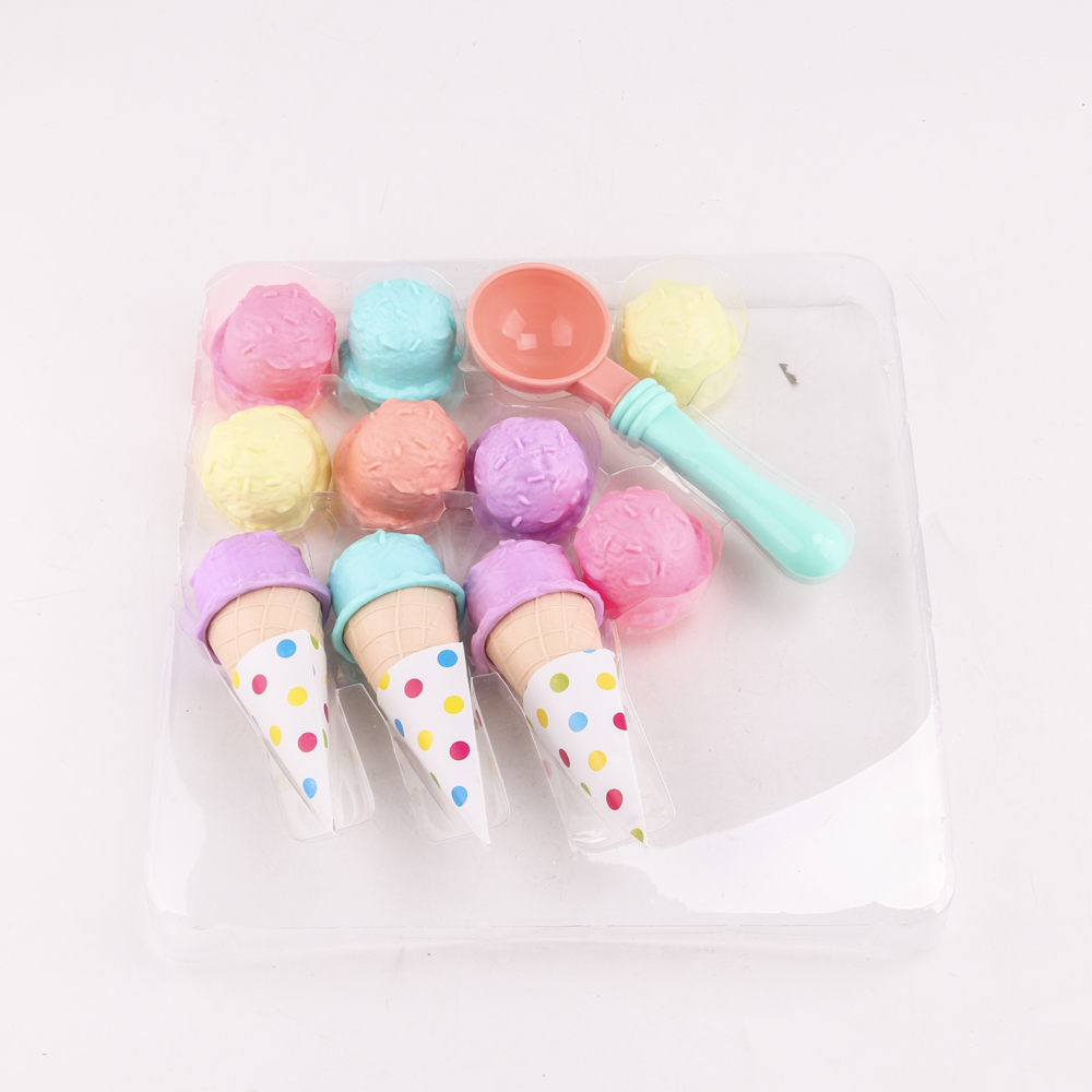 17PCS Ice Cream Play Set Pretend Play Toys Educational Kid Kitchen Set Fun Miniature Toys for Children салатники fun kitchen