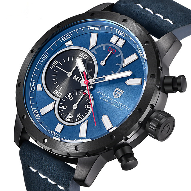 Men Waterproof Chronograph Quartz Watch Luxury Brand 1