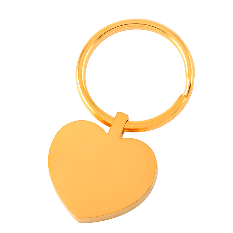 IJK2014 Hot Sale Silver/Golden 316L Stainless Steel Blank Engravable Heart Cremation Urn Keychain Hold Ashes Keepsake Jewelry
