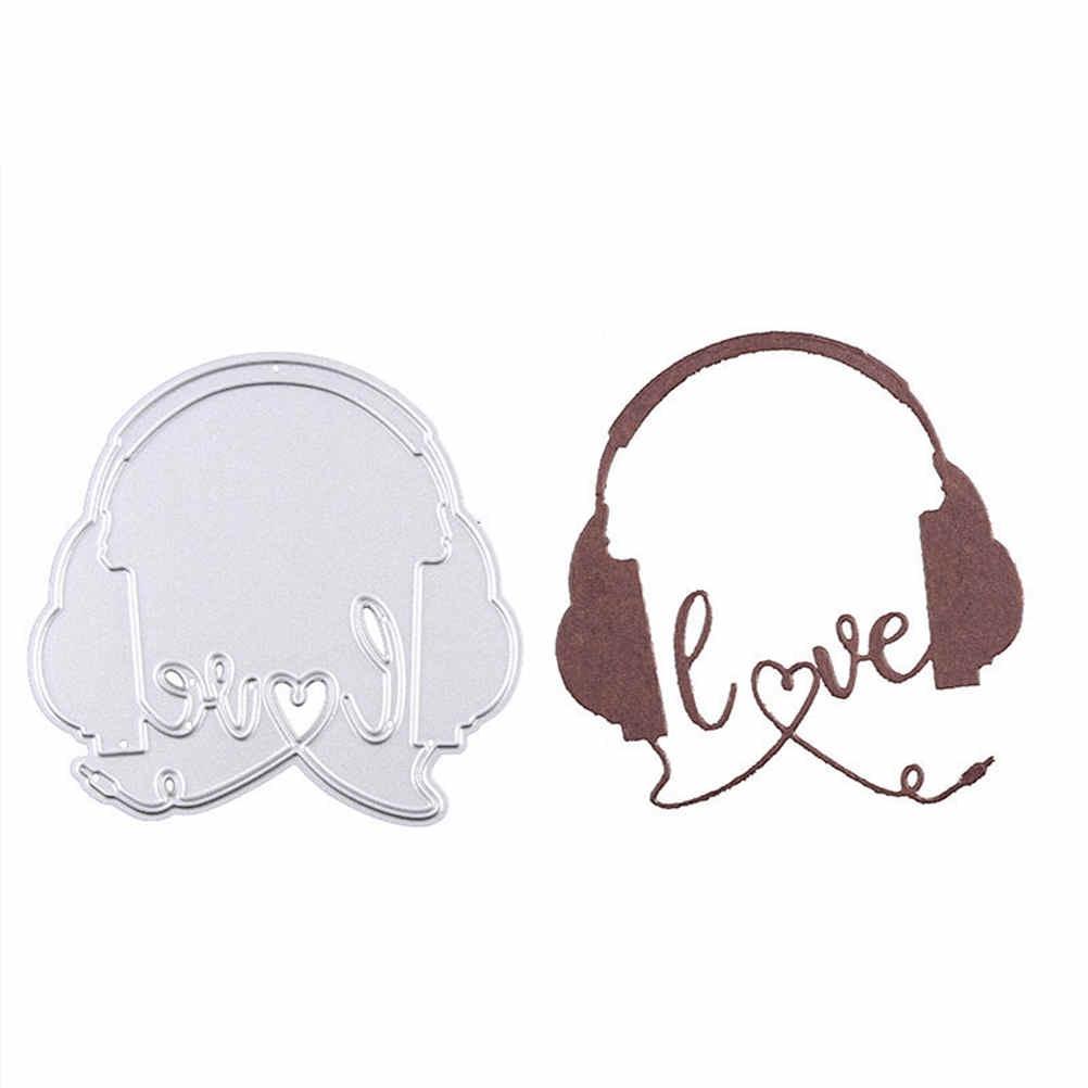 2018 Metal Cutting Dies Scrapbooking Nouveau Arrivage Love Heart Headphones Paper Craft Dies Embossing Clear Stamps And Dies