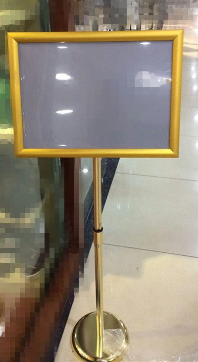 Aluminum Alloy stand Poster Frame Picture Frame Wall Mount Advertising Poster (For A4 size graphic)