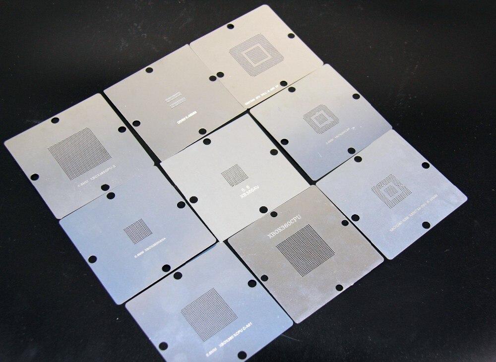 Free Shipping 9PCS / SET BGA Stencil XBOX360 Bumping Net Plant Beads Net 80*80mm 90*90mm Small Steel Mesh