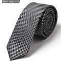 Novo 2016 Da Marca Dos Homens Novos Laços Para Homens Gravata De Seda dos homens Designers SlimTies 5 cm Magro Gravatas Multi-cor Gravata Por Atacado
