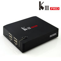 Latest Amlogic S912 KIII PRO Smart TV Box Octa Core DVB T2 DVB S2 Android 6
