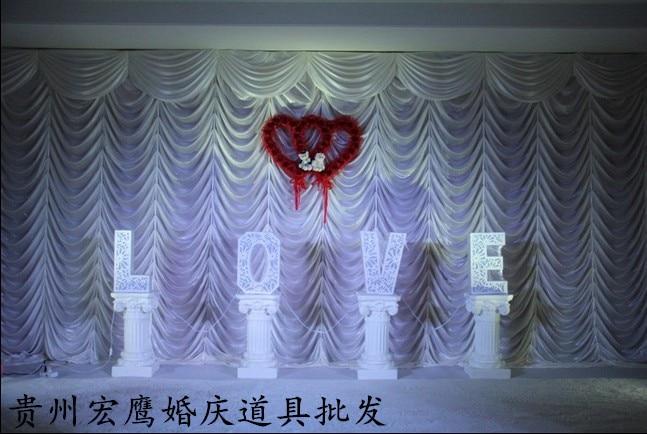 2017 vit vattenfall bröllop bakgrund, bröllop scen drapering färg - Semester och fester