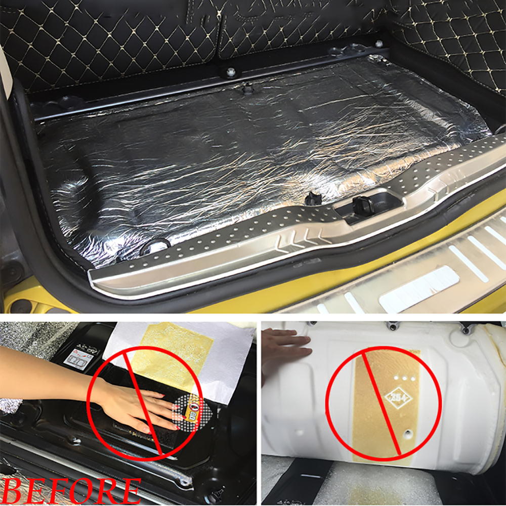 Image 5 - For Smart 451 Smart 453 Car Glass Fibre Sound Insulation Proofing Deadening Closed Cell Foam Car Hood Engine Firewall Heat Mat-in Car Stickers from Automobiles & Motorcycles