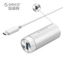 ORICO ARL-U3-SV Портативный Алюминиевый 1000 М USB3.0 СЕТЕВОЙ Конвертер-Серебро