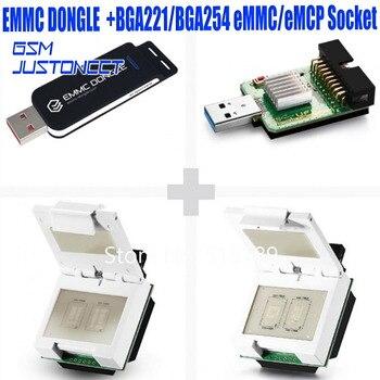 EMMC Dongle поставляется с BGA221/BGA254 eMMC/eMCP разъем + 2 в 1 eMMC/eMCP  разъем + USB3 0 SuperSpeed uSD/eMMC Reader UFI коробка