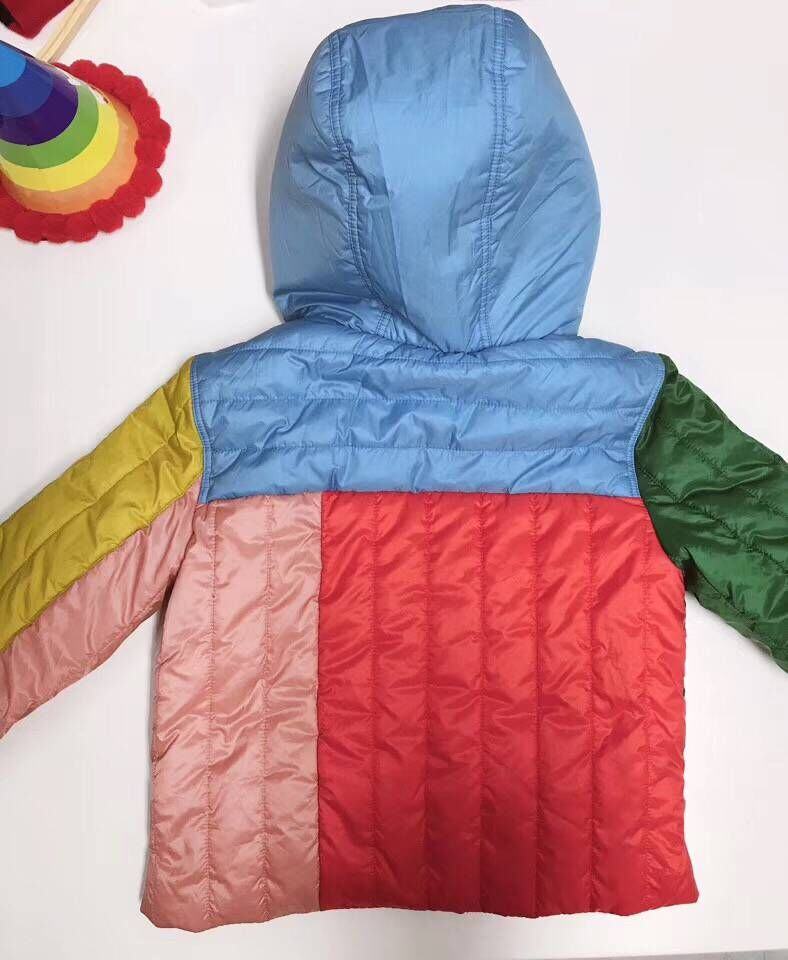 Girls down jacket hooded cute colorful duck down coat hoodie for boys girls winter warm outwear clothes in end of Nov цена