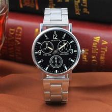 Men Watches 2019 Three-eye Steel Belt Casual Watch Quartz Gift Giveaway Wristwatch Unique Mens Gifts
