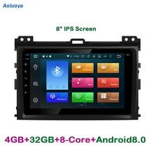 ФОТО octa-core android 6.0.1 car dvd gps navigation for toyota prado 120 2004 2005 2006 2007 2008 2009 2 din car audio multimedia dab