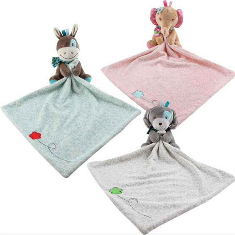 Newborn Baby Toys Pacifier Doll Soothing Appease Towel Infant Soft Soother Towel Cartoon Animal Educational Elephant Plush Toys