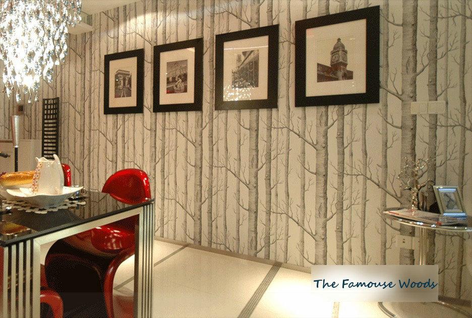 2014 Non Woven Wallpaper Tv Background Wallpaper Wallpaper Living Room Modern Minimalist Black