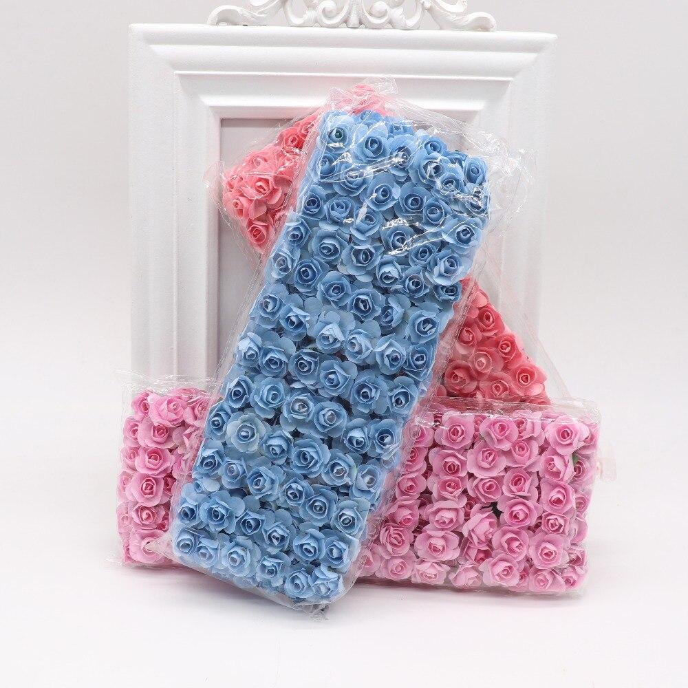 144pcs-1-5cm-Mini-Artificial-Mini-Paper-Rose-Bouquet-DIY-Wreath-Scrapbook-Wedding-Ornament-Artificial-Rose(3)