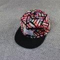 Unisex cap moda snapback ajustável boné de beisebol do hip hop chapéu fresco floral fresco bonito da marinha preto